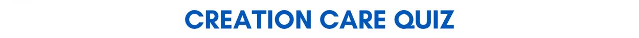 creation care quiz banner